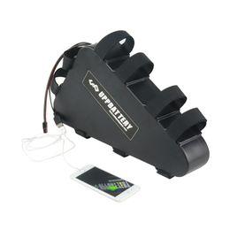 Caso elettrico della batteria della bici online-Nuovo 48V 20Ah ebike Triangle Custodia in plastica Batteria 48V 1000W Batteria al litio per bici elettrica con USB e caricabatterie