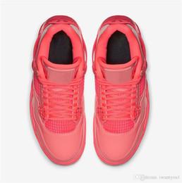Новый Релиз 2019 Аутентичные Air NRG 4 Energy Hot Punch Черный Вольт Мужчины Женщины Баскетбол Обувь Лакированная Кожа Спортивные Кроссовки AQ9128-600 36-47 от Поставщики энергетическая обувь