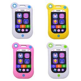 Bebes celulares online-venta caliente del teléfono del teléfono celular de juguete de aprendizaje educativa del bebé Smartphone Modelo juguete parlante de sonido musical para niños Juguetes para niños