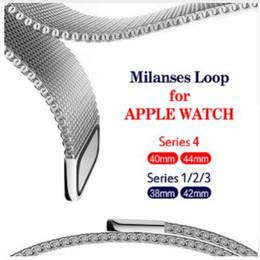 Pulsera de acero inoxidable para la correa de bucle milanesa para el reloj de Apple Serie 40mm 44mm Banda Correa de enlace de muñeca para iwatch 1/2/3 42mm 38mm desde fabricantes