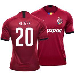 2019 ko 2019 21 Sparta Praha Hochwertige Stickerei Fußball-Trikot customize Fußballtrikot Tschechien Sparta Club Hlozek Kanga Sáček