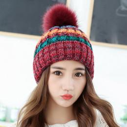 Donne multi colore cappelli lavorati a maglia riscaldano Viaggi inverno Berretti Cap Moda morbido lavorato a maglia sfera cappello esterno Cappello LJJ_TA1253 da cappello di trilby grigio fornitori