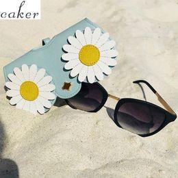 bolsa de design Desconto Caker Marca 2019 Mais Novo Projeto óculos de sol caso mulheres saco pequena margarida óculos capa storge pouch atacado dropshipping