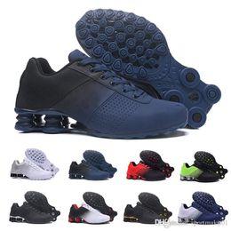 homens, correndo, sapato, shox Desconto nike Tn plus shox Novo Shox Entregar Homens Air Running Shoes Transporte Da Gota Atacado Famoso DELIVER OZ NZ Mens Tênis Esportivos Running Shoes 40-46