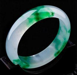 Jade verde-gelo on-line-56--60mm gelo flutuante jade verde espécies de gelo natural senhoras pulseira de jade pulseira requintada atacado direto da fábrica