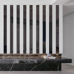 Miroir fond d'écran en Ligne-3D acrylique Miroir surface du mur à rayures lisse Sticker Home Decor Chambre Living Wall Decal Chambre autoadhésifs Art Fond d'écran