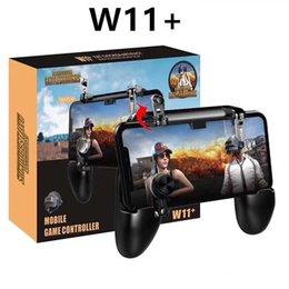 2019 joystick para celular W11 + Jogo Gamepad Móvel Lidar Com o Caso Do Telefone Móvel Shell Gamepad Titular Joystick Fire Trigger All in One para Celular desconto joystick para celular