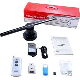Led-werbung fan online-LED 3D Hologramm Projektor Hologramm Player Hinweis Display Fan Lampe Werbedisplay Hochwertiger LED Fan