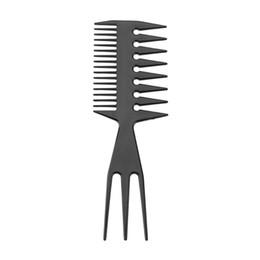 Outils de style Accessoires de style 1pc Pro Black Peigne de dents à deux faces en forme de poisson, peigne à cheveux en os ? partir de fabricateur