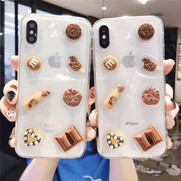 max chocolats Promotion Pour iPhone X XS Max XR Biscuits Aux Pépites De Chocolat Téléphone Cas Couverture Souple En Silicone Pour iPhone 7 8 6 6 s Plus Cas