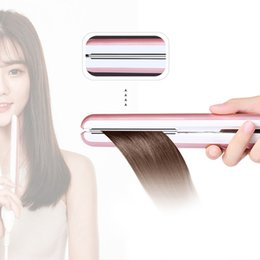 Fibbia in rotolo online-Rotolo dritto Doppio uso Frangia Piastra per capelli Termostatico Lega ambientale Pannello galleggiante 3D Cura dei capelli a ioni negativi