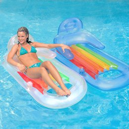 Inflatables novos quentes on-line-Nova Chegada de Luxo Flutuante Mat Inflável Flutua Tubos Flutuar Corrimão de Cama Encosto de Natação Produtos de Praia de Verão Venda Quente 33dhG1