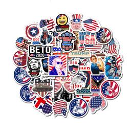 Bicicletta graffiti online-50Pcs / lot Trump Sticker Cartoon presidente portatile impermeabile Graffiti Sticker Deposito auto Guaitar Skateboard Telefono biciclette Adesivi FFA3015