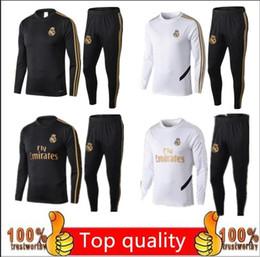 2019 echte madrid sportkleidung 2019 2020 Real Madrid Trainingsanzug Fußball für Erwachsene Maillot De Foot Trainingsanzug 19 20 Trainingsanzug für Erwachsene Survêtement Sportswear günstig echte madrid sportkleidung