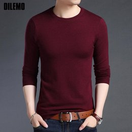 2019 ropa coreana envío gratis hombres 2019 Nueva marca de moda suéter para hombre de la chaqueta de lana Slim Fit Puentes Knitred O-Cuello del estilo de Corea del otoño hombres ocasionales de la ropa el envío libre
