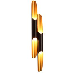 Luce di soppalco di moda online-Moderna Coltrane Wall Sconce Lamp Simple Fashion Tubo in alluminio Minimalismo Single Twins Tube Hotel Camera Lounge Loft Cafe Bar Light