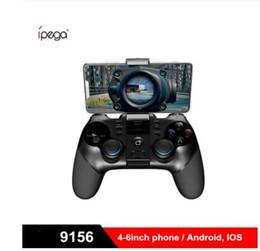 Alta qualidade NOVO IPEGA PG-9156 PG 9156 Sem fio Bluetooth Gamepads Joystick Flexível Com Receptor USB 2.4GHz Para Android IOS PK Ipega 9076 de