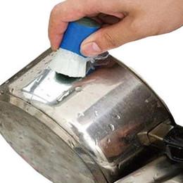 Topf-stick online-Reinigungsbürste Edelstahl 1 PC Magic Stick Metall Rostlöser Reinigungsstab Waschbürste Topf Küche, die Werkzeug