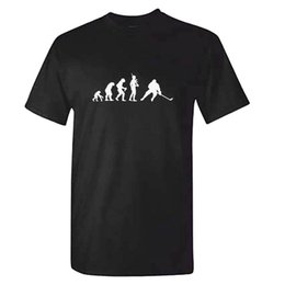 2019 camisolas de gelo Evolução Unisex De HÓQUEI ICE HOCKEY-Mens Camisola Roupas Kit T Shirt Presente Moda Estilo Homens Tee Barato atacado tees camisolas de gelo barato