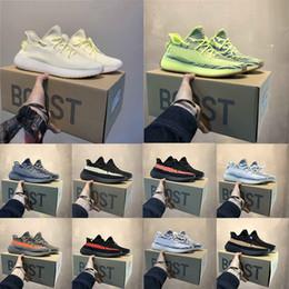 Scarpe da corsa multi colored online-con scatola e calzini Classico colore abbinato Beluga 2.0 crema crema semi congelato giallo kanye west uomo donna scarpe da corsa scarpe firmate