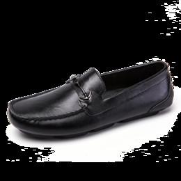 ec2c9adf501 Los hombres de la marca de moda de lujo se deslizan los zapatos de cuero en  los hombres casuales Mocasines Marrón Negro Hombre Cuero Zapatillas de  deporte ...