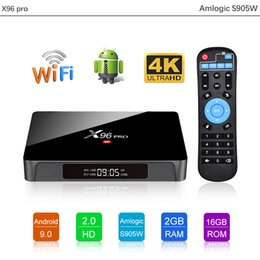 горячий набор Скидка Hot X96 PRO Android 9.0 TV Box 2GB 16GB Amlogic S905W 4K Set Top Box Обновлено X96 MINI