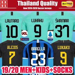 sockenhemd Rabatt Inter Milan Lukaku ALEXIS Inter Škriniar Barella Fußball jerseys 2019 2020 Mailand maillot de foot Lautaro Godín Kinder Kit Socken 19 20 Fußball-Shirts
