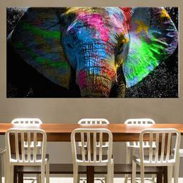 2019 pintura abstracta del elefante Al óleo del paisaje del elefante de África Pintura animal arte de la lona de pósteres y láminas arte abstracto cuadro de la pared de la sala de estar de la decoración rebajas pintura abstracta del elefante