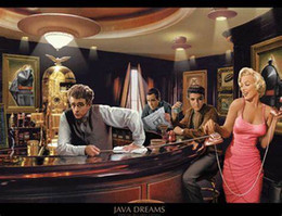 James art online-MARILYN MONROE JAMES DEAN - JAVA DREAMS decorazione murale Art Silk Poster di stampa 87