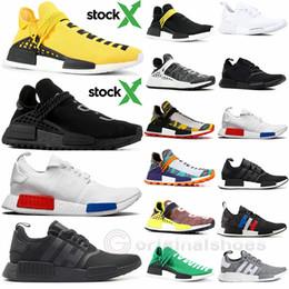 Mit Lager X Human Race Sportschuhe New Pharrell Williams HU Solar Pack Mutter Tie Dye Oreo Herren Sneakers Damen Laufschuhe Sneakers