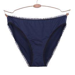 2020 biancheria intima blu navy Donna Smooth Brief Sexy Taglio alto Mutandine Navy Blue Tanga Underwear Women biancheria intima blu navy economici