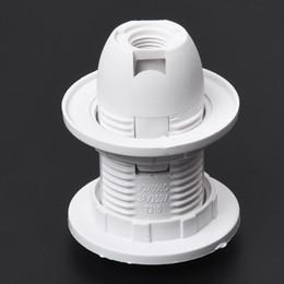 Douille d'ampoules en plastique en Ligne-Coquille en plastique Type de vis E14 Ampoule Douille Support de douille AC 250V 2A Suspension Douille Anneau d'abat-jour 5.8 x 4.3cm