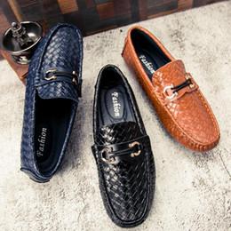 men s woven leather shoes Rabatt New Woven Peas Shoes Herren Leder Trend Sommer Gut aussehend Atmungsaktive Lederschuhe Dress Youth Driving
