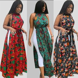 2019 meninas vestidos de algodão flora Poliéster de Algodão Misturando Vestidos Impresso das Mulheres, Senhora Sexy e Vestidos Longos de Verão da Menina, Um Botão de Volta Saias Abertas meninas vestidos de algodão flora barato