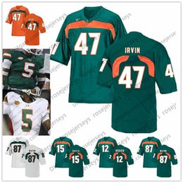jersey rock Coupons - NCAA Miami Hurricanes #3 Frank Gore Travis Benjamin 47 Michael Irvin 80 Jimmy Graham 94 Dwayne Johnson The Rock Retired Football Jersey