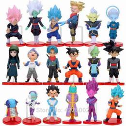 6pcs Set Dragon Ball Z WCF Black Son Goku Pink Hair Trunks Zamasu DBZ Figure New