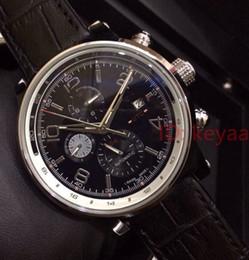Relógios automático on-line-Relógio de aço inoxidável superior do desenhista do movimento automático Relógios grandes dos esportes do seletor de couro preto dos homens relógios de pulso mecânicos luxuosos dos homens
