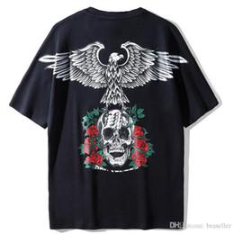 2019 adlerhemd druck Markendesigner Herren T-Shirts Kurzarm T-Shirts Street Fashion T-Shirt Fliegender Adler Brief JUNGE Druck T-Shirt Kleidung Unisex Baumwolle T-Shirt