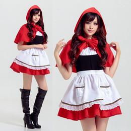 2019 cosplay kostüme rote reithaube Rotkäppchen Party Kleider Erwachsene Halloween Cosplay Kostüm Nachtclub Anime Thema Kostüme Spiel Uniform rabatt cosplay kostüme rote reithaube
