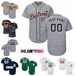 Prise de baseball en Ligne-Baseball Flexbase 60 Ty Cobb Jersey 6 Al Kaline 2 Charlie Gehringer 5 Hank Greenberg 47 Jack Morris 3 Alan Trammell Whie Bleu