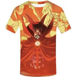 anime tshirts Rabatt Lustige T-Shirts Seltsam T-Shirt Männer-Superheld-T-Shirt gedruckt Marvel-T-Shirts beiläufige Flamme TShirts 3d Anime Kleidung S-5XL
