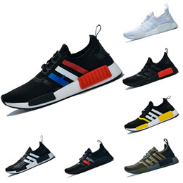 wholesale dealer 1b964 d7123 2019 NMD R1 Boost Course Chaussures Hommes Femmes Atmos Olive France Blanc  Noir Rouge Jaune Trainer Runner Designer Sport Baskets Taille 36-47