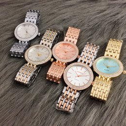 orologi di modo del rhinestone Sconti Le donne di orologi Ladies Watch Hot Sale strass donne della vigilanza di modo dell'oro Orologi da donna zegarek Damski Reloj mujer