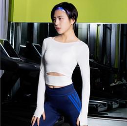 t-shirt in esecuzione libera Sconti Magliette per lo yoga da palestra per donna Magliette da allenamento a maniche lunghe Magliette per lo sport in esecuzione Fitness Formazione Sportswear Spedizione gratuita.