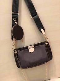 Diseñadores bolsa de correas online-M44823 bolso de lujo del diseñador bolsas de las mujeres bolso del hombro L de la flor bolsa de 3 piezas pruses mujeres correa de hombro de la cadena