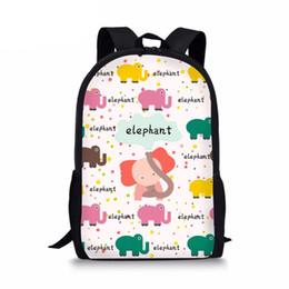 mochilas de chicas elefantes Rebajas Mochilas de dibujos animados lindo para adolescentes Chicas Animal Puzzle Elefante Libro Bolsas de hombro Casual Childern School Daypackssumka