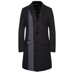 casaco de tartaruga Desconto Mens Designer Inverno Trench Coats Única Decoração Listrada Moda Mens Casacos de Tartaruga Pescoço Fino Homme Casacos