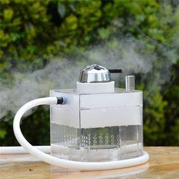 Porta tubo condotto online-Nuovi arrivi Set di bong per narghilè in acrilico con luce a LED Mini tubi per acqua Supporto per carbone Tubo flessibile Shisha Nargile Chicha