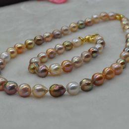 f4f42190c353 Magníficos multicolores Kasumi FW perla conjunto collar pulsera 9-11mm