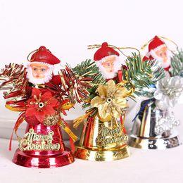 10 Pz / lotto Schiuma fatta a mano Babbo Natale campane ciondolo di natale albero di natale goccia ornamenti per la casa calda decorazione di natale da tubi proiettili fornitori
